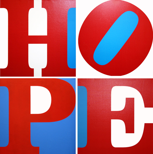 ROBERT INDIANA - HOPE (R/W/B)