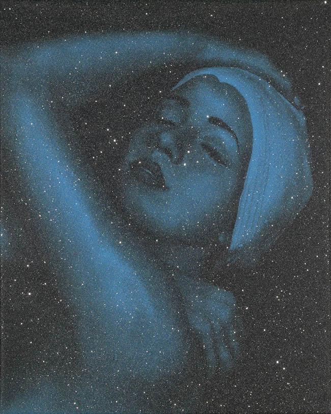 CAROLE A FEUERMAN - SHOWER PORTRAIT (BLUE)