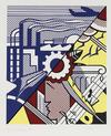 ROY  LICHTENSTEIN - INDUSTRY AND THE ARTS II (Corlett 86)