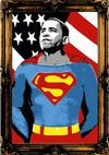 MR. BRAINWASH - OBAMA SUPERMAN (GOLD)