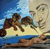 STEVE KAUFMAN - HOMAGE TO DALI