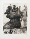 HENRY MOORE - MOTHER AND CHILD WITH BORDER DESIGN