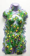 GABRIELLA GUERRIERO - Peacock Feather Female Sculpture