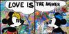 MR. (ORIGINALS) BRAINWASH - LOVE IS THE ANSWER DIPTYCH (MICKEY & MINNIE)