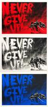 MR. (EDITIONS) BRAINWASH - NEVER GIVE UP TRIPTYCH