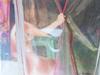 JANE A GORDON - Oman Girl Behind Clear Curtain
